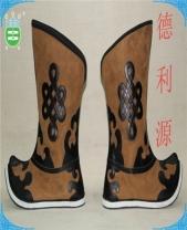 鹿皮绒布靴