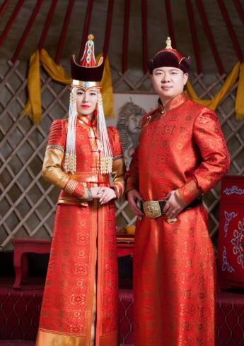 蒙古族婚礼袍